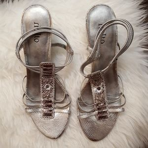 """Rialto """"Del Rio"""" Silver Sandals"""